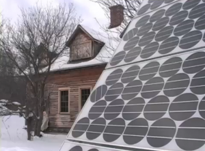 Sarah Highland&#039;s solar panel, in Empowered: Power from the People