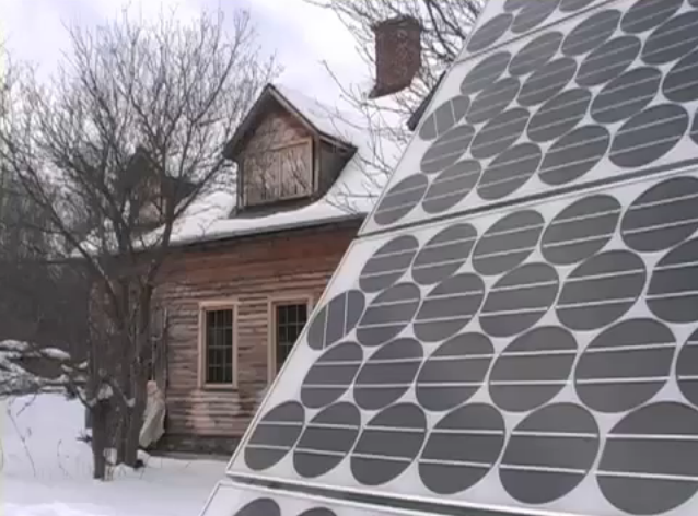 Sarah Highland's solar panel, in Empowered: Power from the People